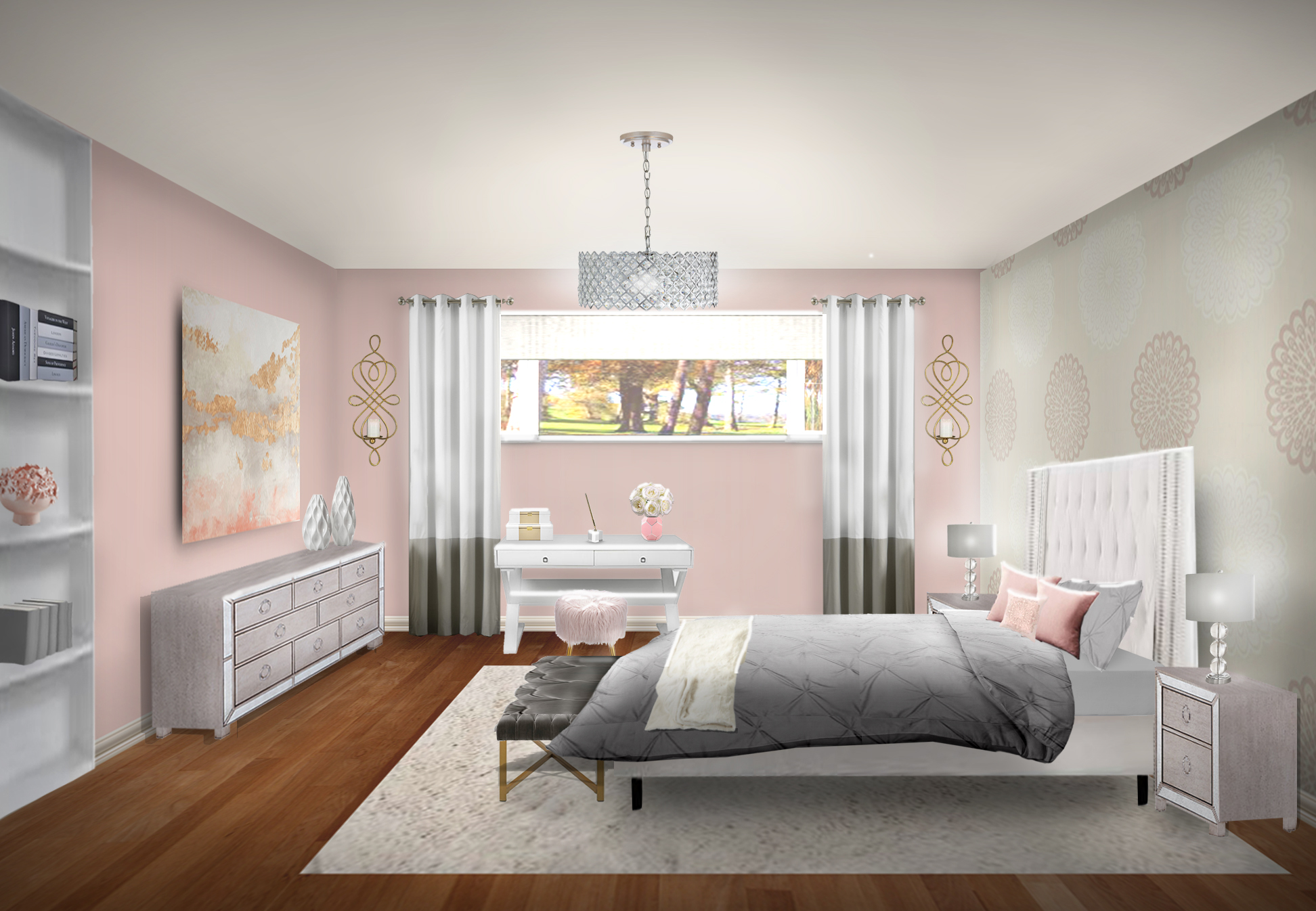 3d room photoshop-interior design