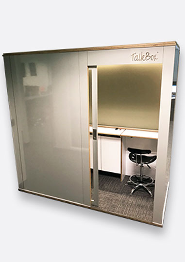 Double Privacy Meeting Booth