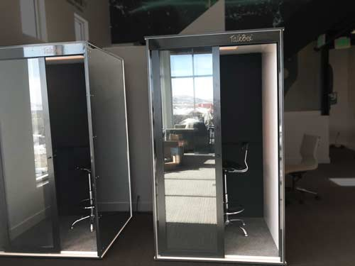 Sleek Soundproof Office Booths