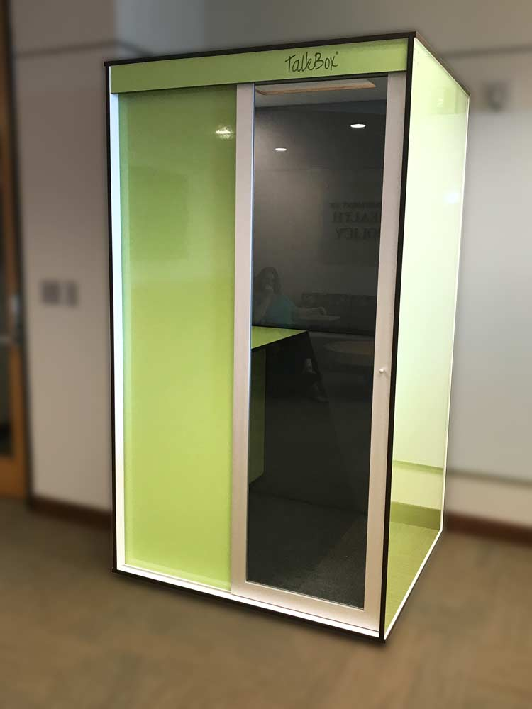 Light Green TalkBox booth
