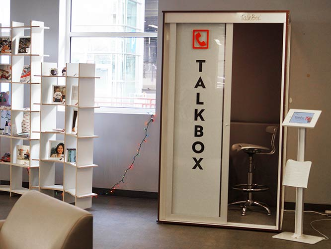 TalkBox Booth during the holidays