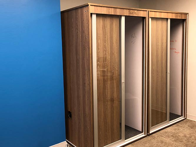 Millennium Oak TalkBox privacy booths