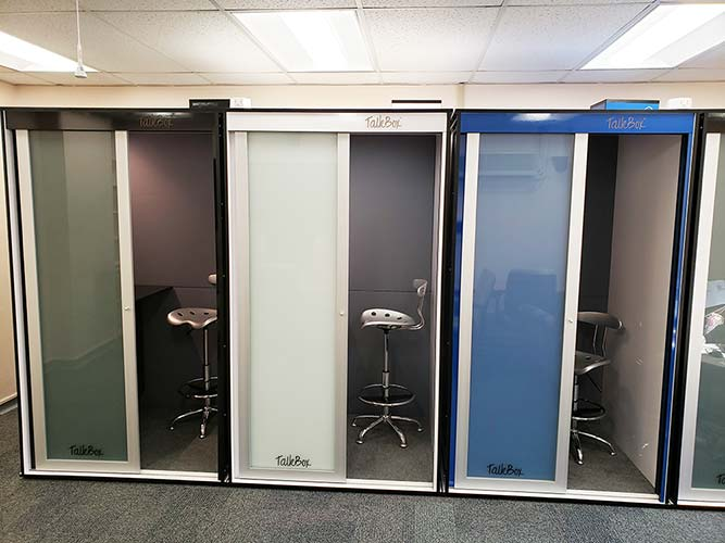 4 Custom Office Phone Booths