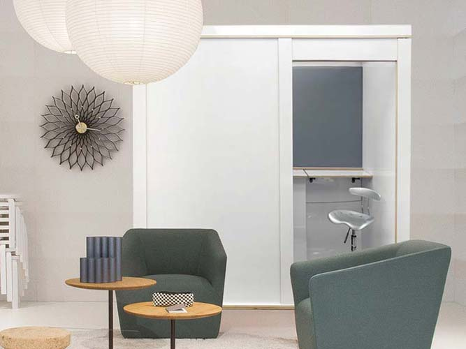 Booth that fits into interior design