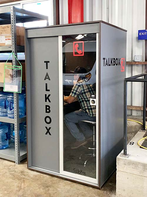 Warehouse quiet phone booth