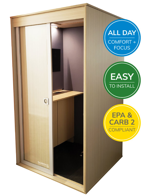 TalkBox Home Office booth for All Day comfort and focus