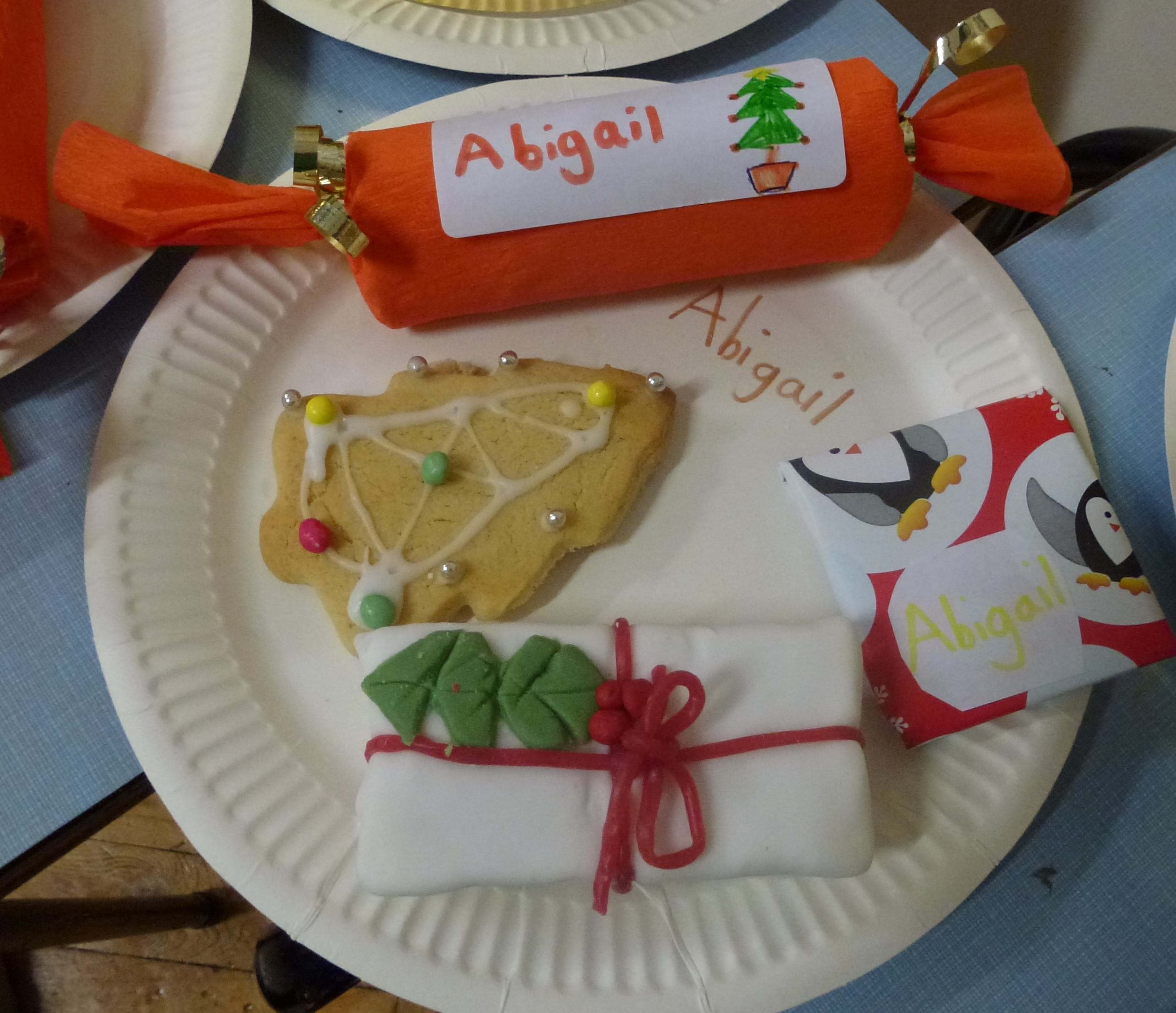 Some of the things Abigail made at December's Messy Church