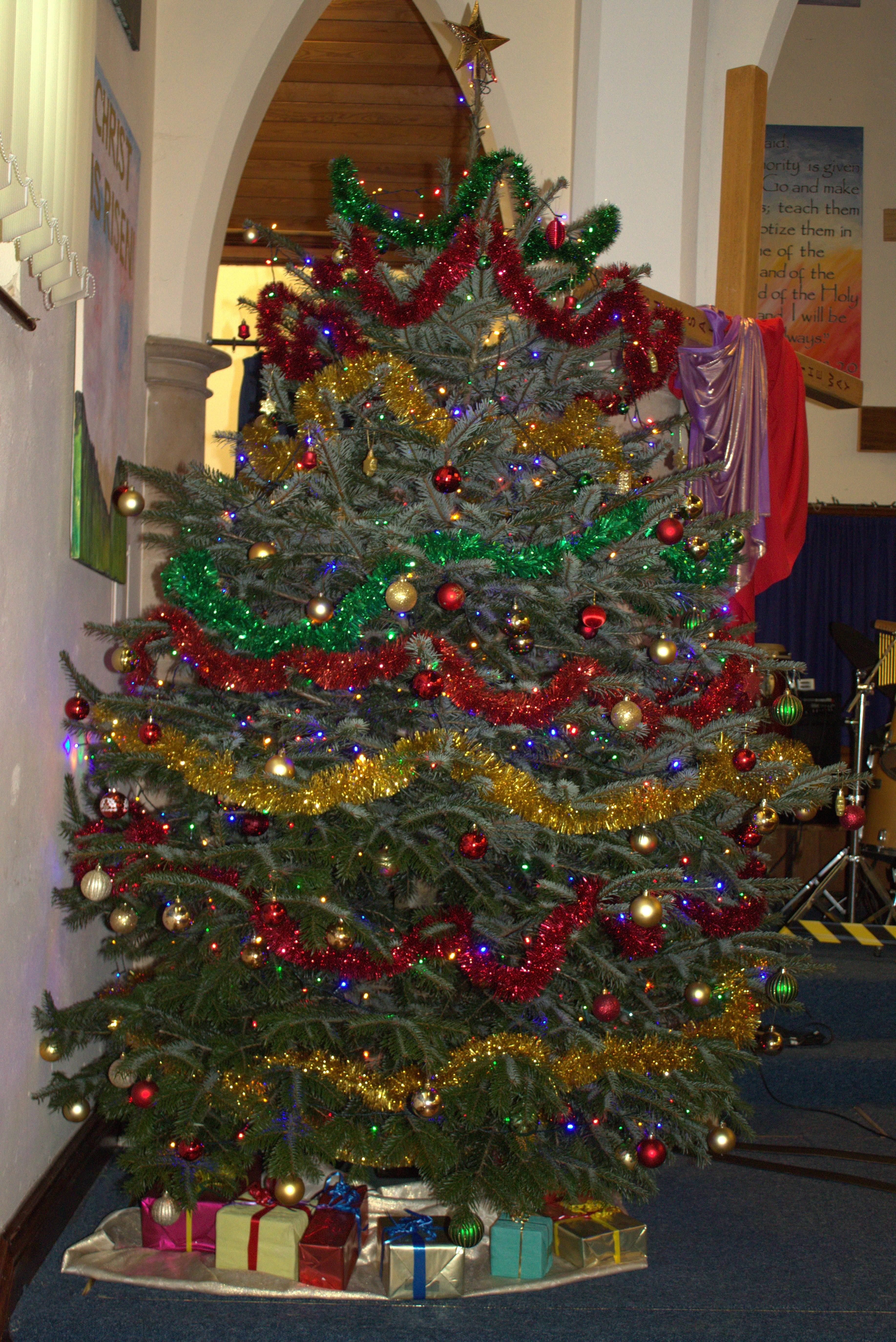Christmas tree in the church