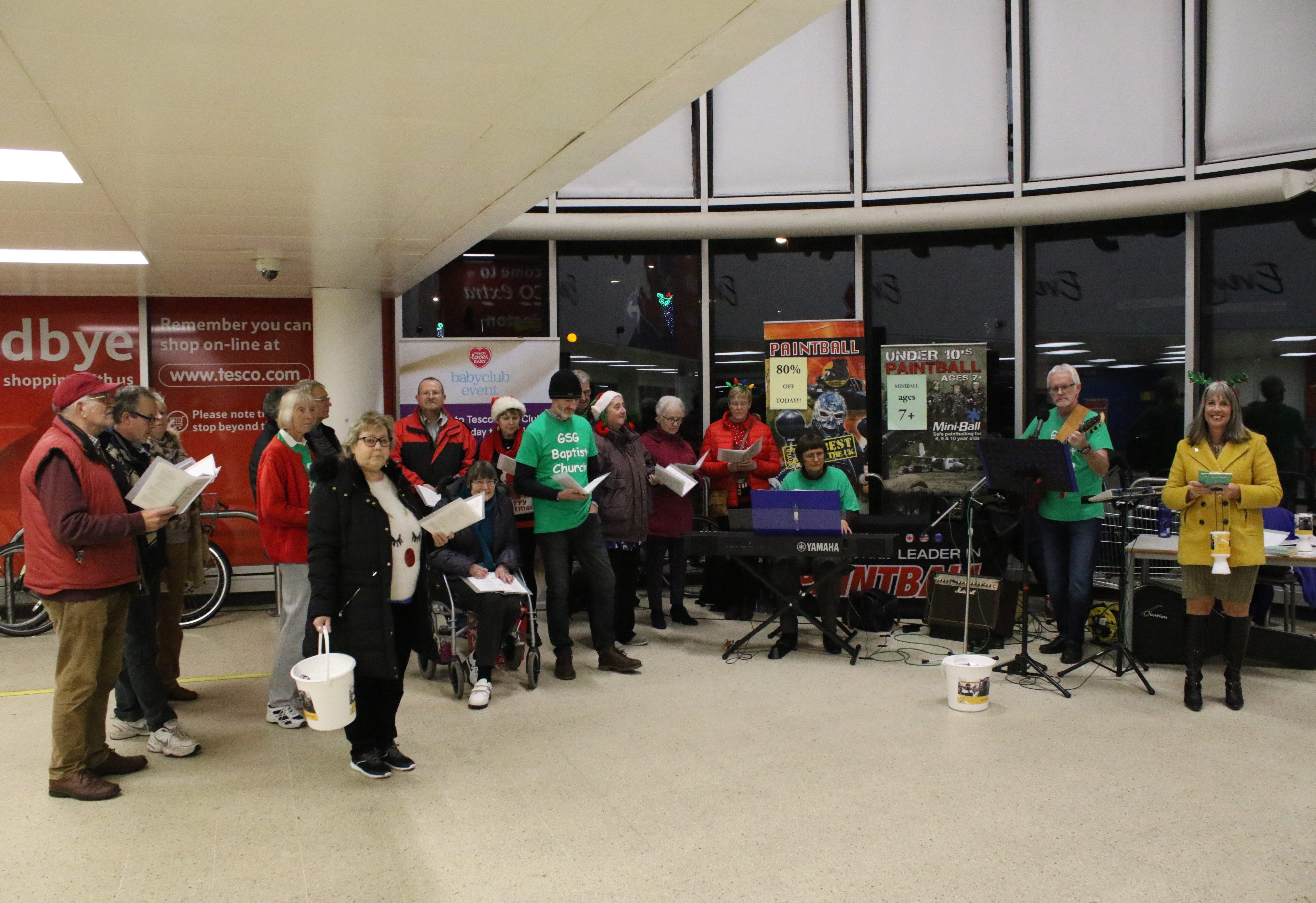 Carol Singing in Tesco's