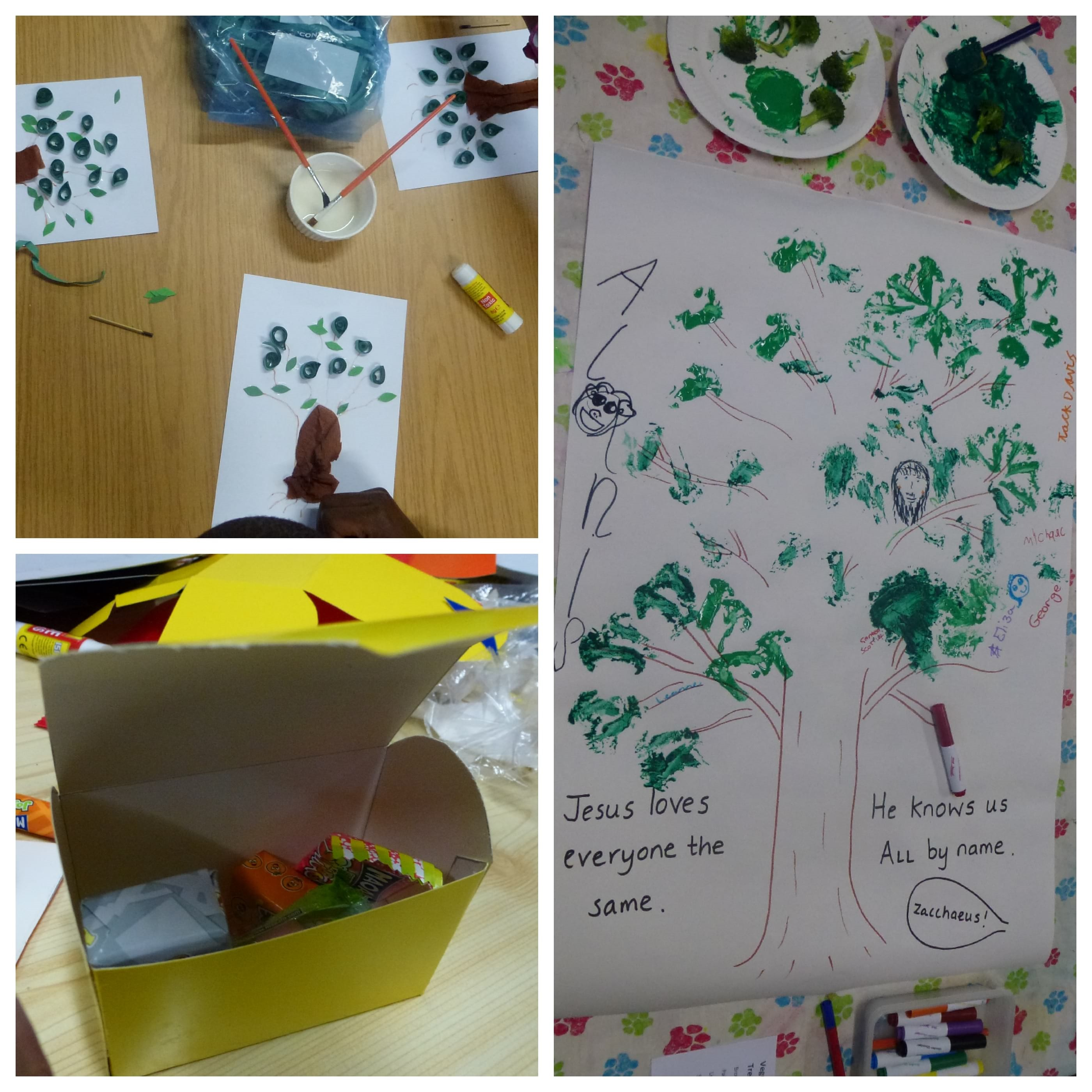 Zacchaeus meets Jesus was the theme for March Messy Church