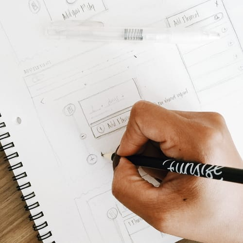 Funsize design wireframing and product sketching for design iterations