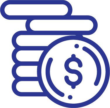 Icon of coins stacked for Share Certificates of Deposit