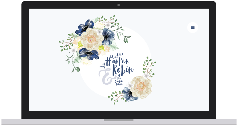 Bespoke wedding website design preview