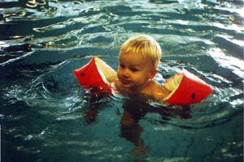 Young Guido Swimming