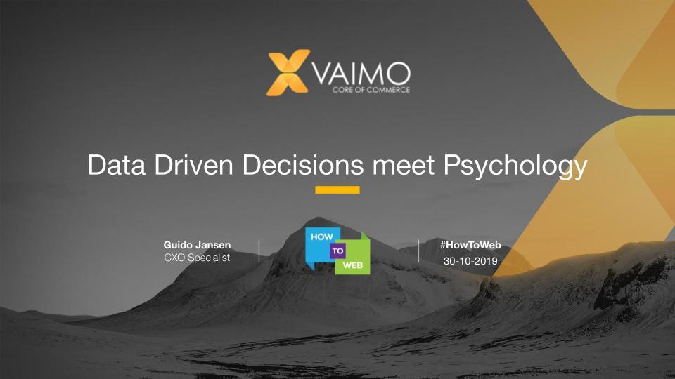 Data Driven Decisions meets Psychology