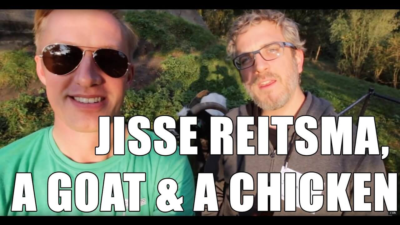 Jisse and I get attacked by a goat and a chicken