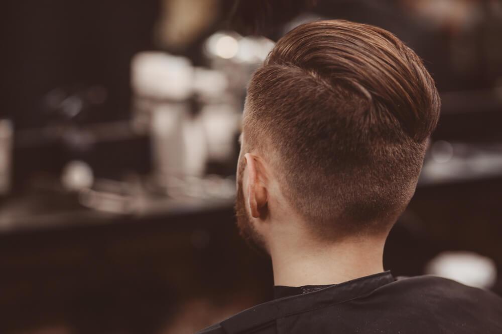 Modern man's hairstyle