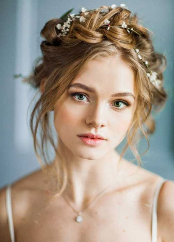 Crown braid - Autumn bridal hair