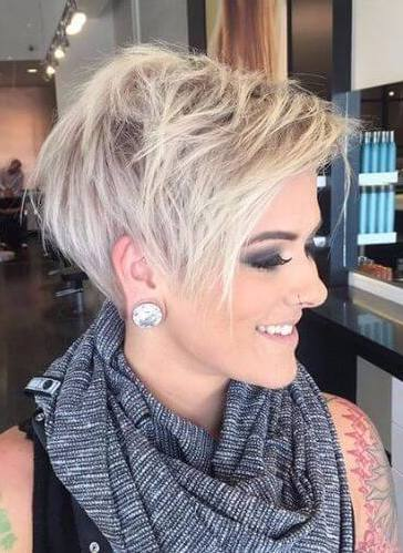 Asymmetrical pixie cut - short hairstyles for women