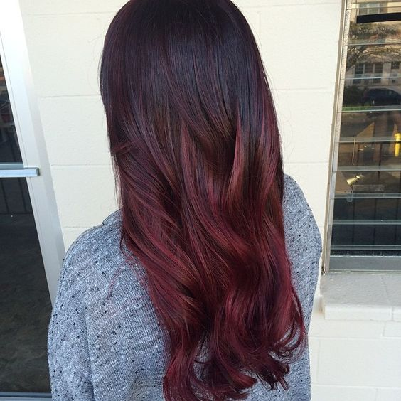 Burgundy babe - Winter hair trends 2018