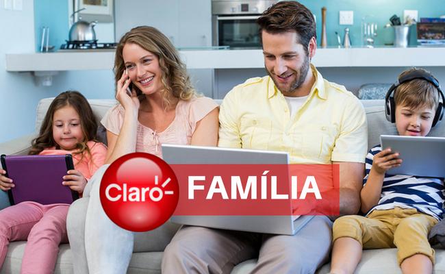 plano claro tv família