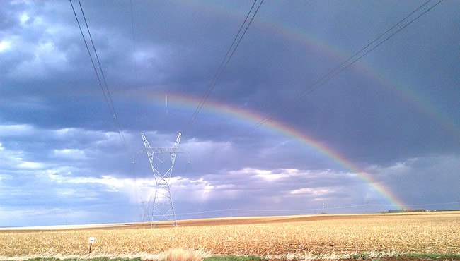 transmission line with rainbow