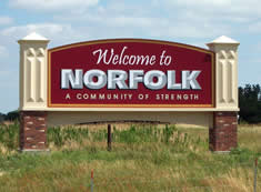Welcome to Norfolk city sign