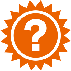 Sun with question mark icon