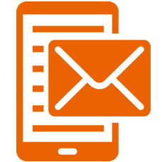 Phone with email icon