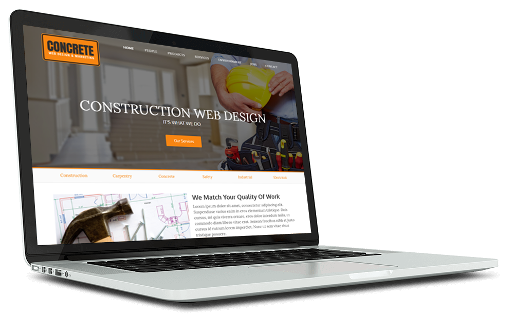 Concrete Web Design Website Example