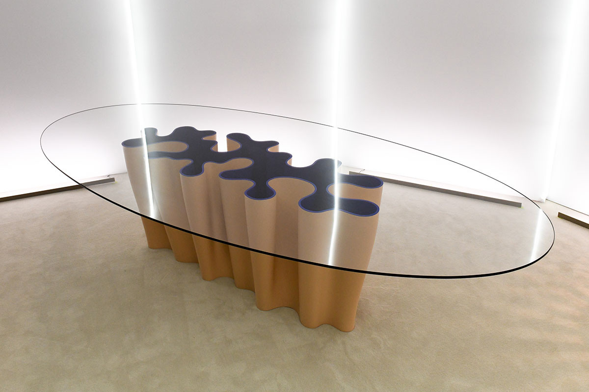 Serpentine Table for Louis Vuitton's Objets Nomades homeware line by Atelier Biagetti, an Italian design practice by Alberto Biagetti and Laura Baldassari based in Milan.