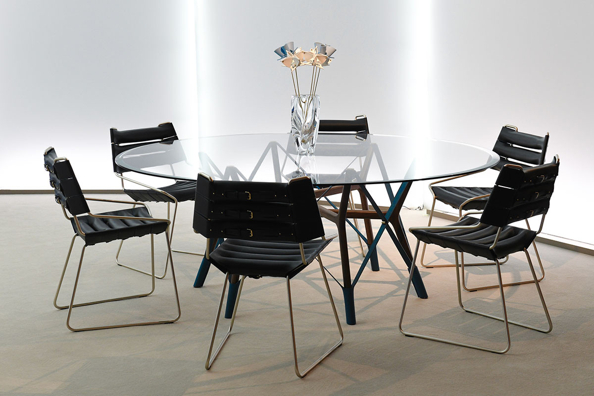 Serpentine table for Louis Vuitton's Objets Nomades line by Atelier Oï, a Swiss design practice led by Aurel Aebi, Armand Louis and Patrick Reymond.