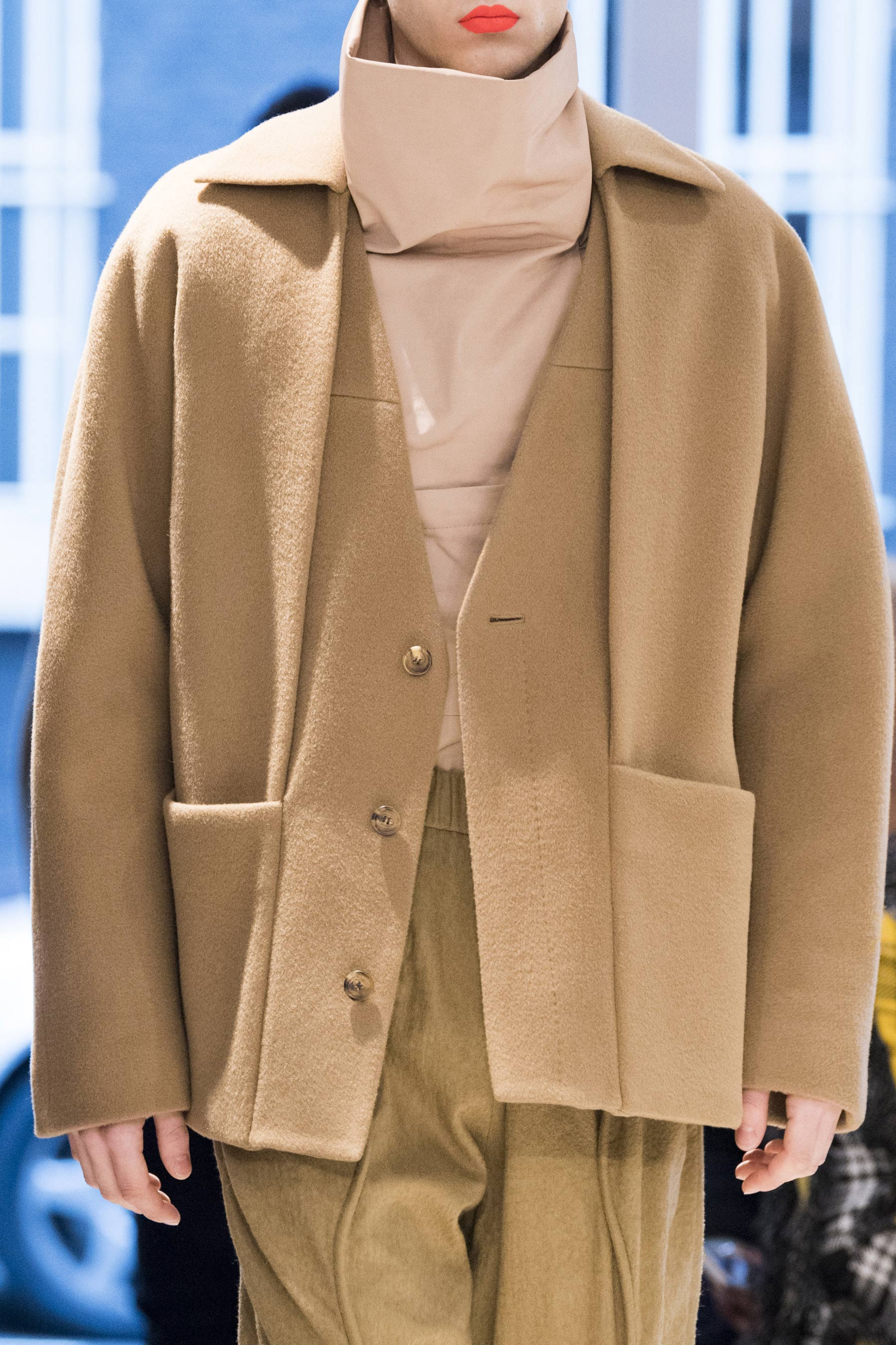 Detail of a look from Chalayan Men's Fall/Winter 2019 collection shown at London Fashion Week: Men's.