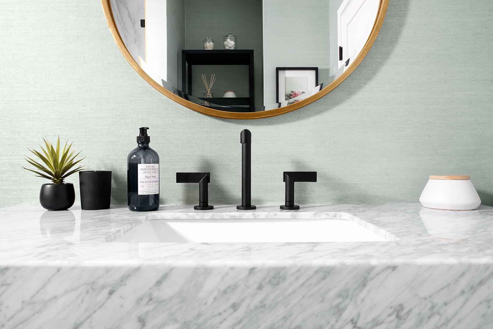 Master bathroom sink design in Oakland, CA