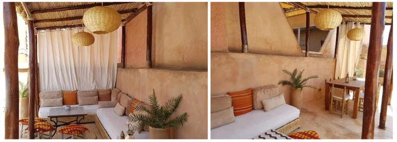 design inspiration color texture outdoor open-air lounge dining area marrakech warm earthy tones