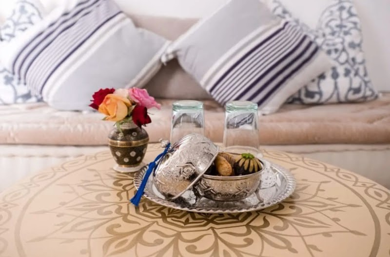 design inspiration morocco local artists airbnb pillows table setting breakfast