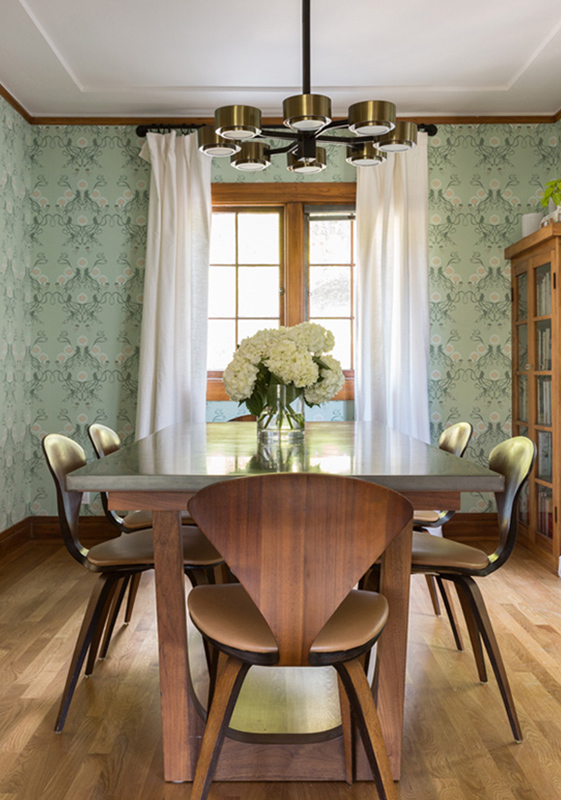 pale green squid jellyfish wallpaper dining room fun creative joyful inspiration