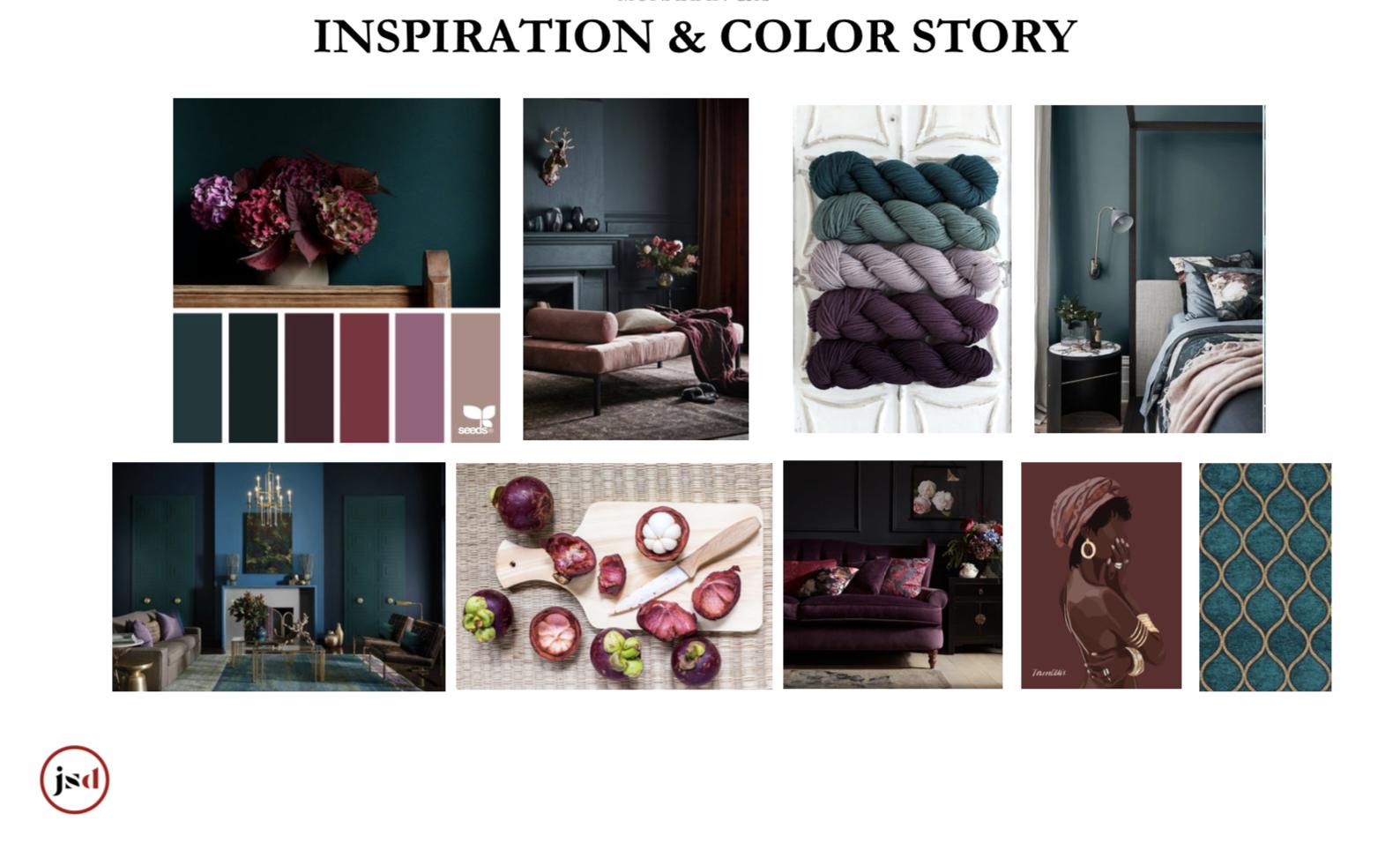 bedroom color inspiration moody deep jewel tones teal plum garnet navy