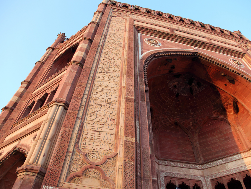 design inspiration color india red sandstone patterns arches layers of color