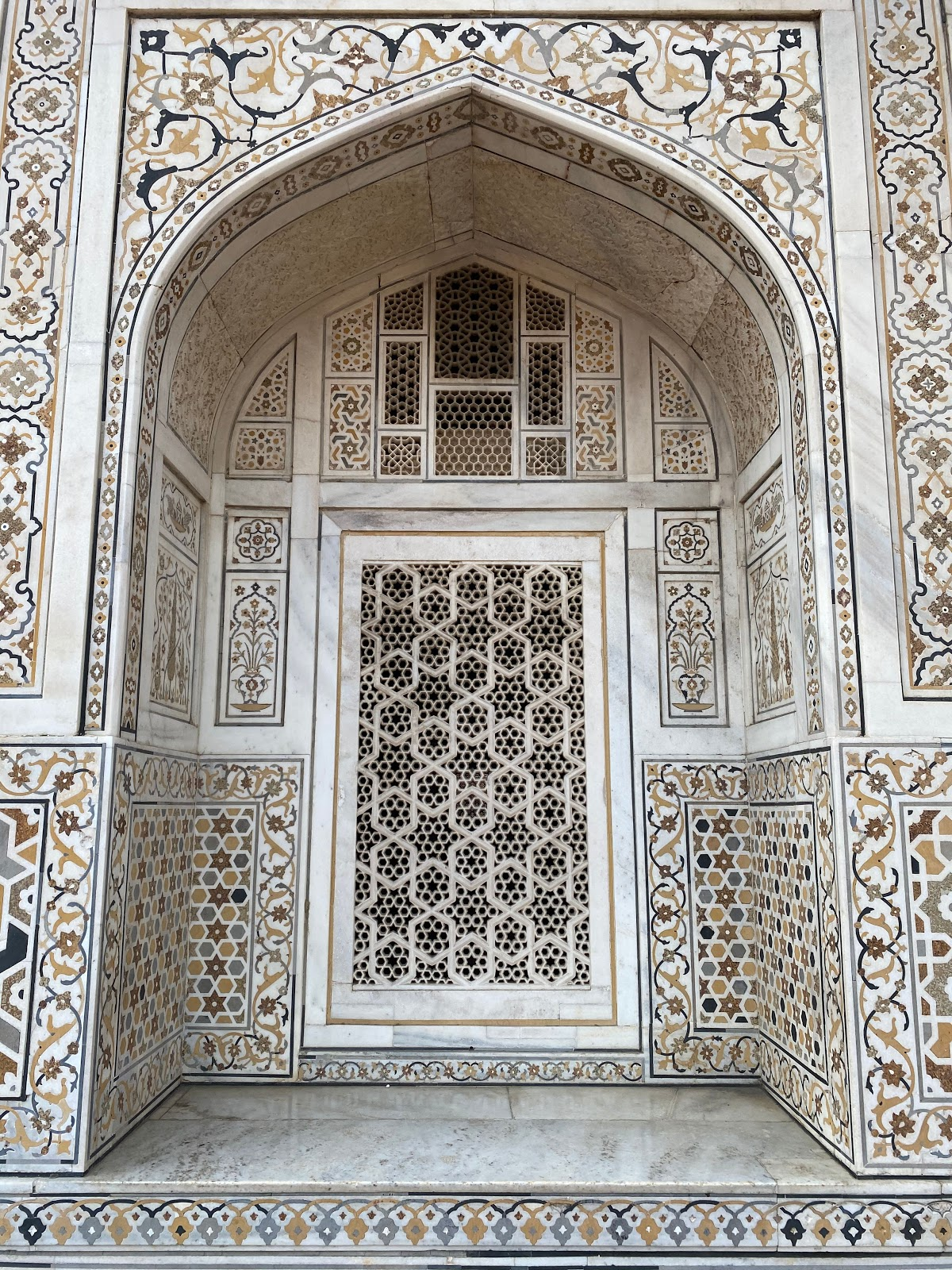 design inspiration baby taj india colorful white marble patterns mughal architecture gate