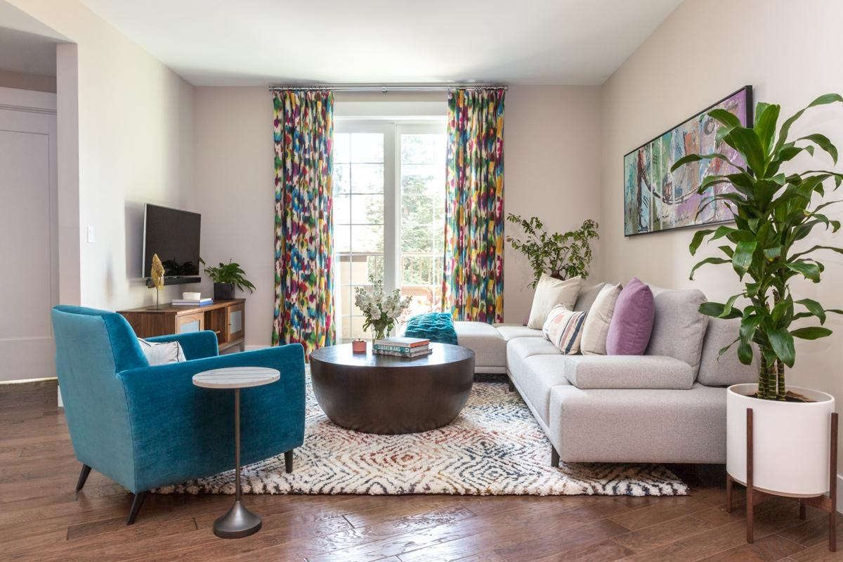 joy street design living room bright colorful airy walnut creek