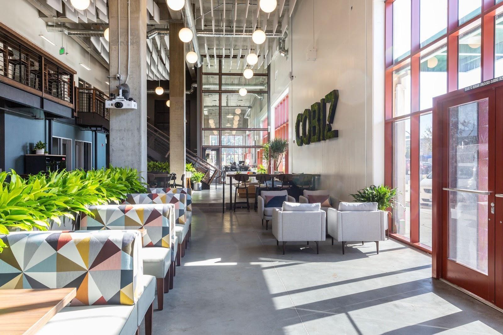 cobiz richmond colorful fabric benches movable planters creative design