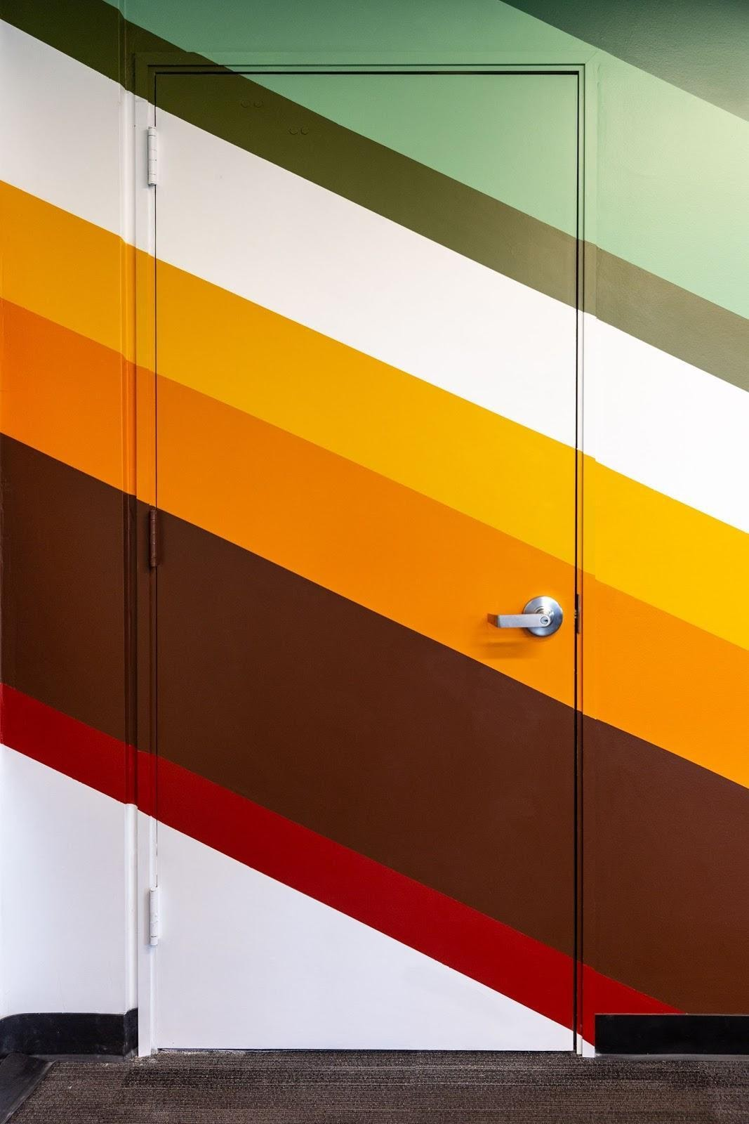 custom mural wall striped colors conference room creative richmond ca