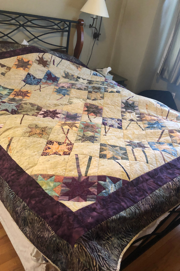 inspiration piece for colorful vibrant family home in oakland quilt