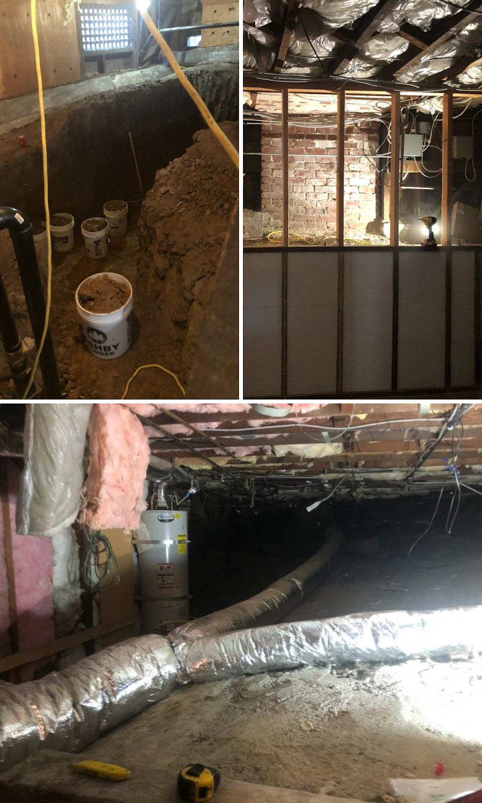 basement digout under oakland home remodel new addition more space