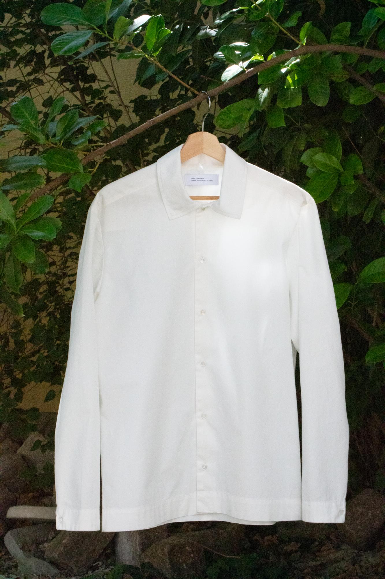 Shirt from Italian deadstock fabric by Artikel København, produced in Copenhagen.