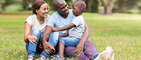 Family enjoying the outdoors thanks to Allergy treatment