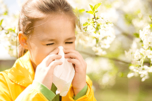 Childhood outdoor allergies to pollen