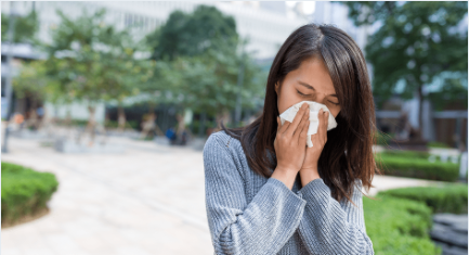 woman suffering from chronic sinusitis
