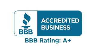 A Better Business Bureau A+ Rating badge